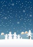 Familia de la nieve Imágenes de archivo libres de regalías