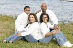 Familia de la raza mezclada Fotos de archivo libres de regalías