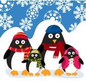 Familia de los pingüinos Foto de archivo libre de regalías