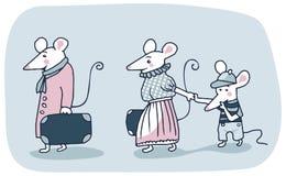 Familia de los ratones Imagenes de archivo