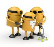 Familia de los robots Imágenes de archivo libres de regalías