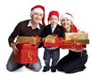 Familia de Navidad Fotografía de archivo