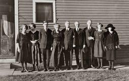 Familia de nueve Imágenes de archivo libres de regalías