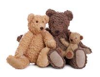 Familia de osos de peluche fotos de archivo
