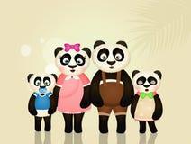Familia de panda Fotos de archivo libres de regalías