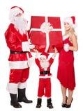 Familia de Papá Noel con el niño. Imágenes de archivo libres de regalías