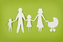 Familia de papel feliz Imagen de archivo libre de regalías
