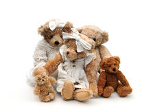 Familia de peluches Imagen de archivo libre de regalías