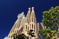Familia de Sagrada à Barcelone Photos libres de droits