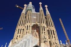 Familia de Sagrada à Barcelone Images libres de droits