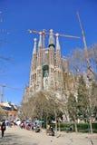Familia de Sagrada à Barcelone Photo libre de droits
