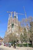 Familia de Sagrada à Barcelone Photographie stock libre de droits