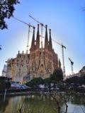 Familia de Sagrada à Barcelone photos stock