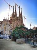 Familia de Sagrada à Barcelone photo stock