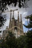 Familia de Sagrada, Barcelona Foto de Stock Royalty Free