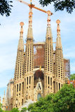 Familia de Sagrada, Barcelona Fotografia de Stock Royalty Free