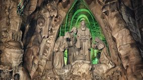 Familia de Sagrada, Barcelone Photo stock