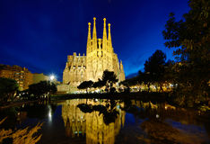 Familia de Sagrada, Barcelone Photographie stock