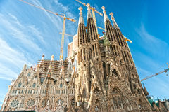 Familia de Sagrada del La, Barcelona, España. Foto de archivo