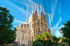 Familia de sagrada do La, Barcelona, Spain. Foto de Stock