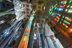 Familia de sagrada do La, Barcelona, Spain. Imagens de Stock Royalty Free