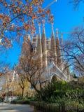 Familia de Sagrada en Barcelona fotos de archivo libres de regalías
