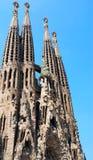 Familia de Sagrada en Barcelona Fotografía de archivo libre de regalías