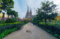 Familia de Sagrada en Barcelona Foto de archivo