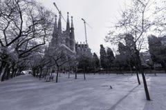 Familia de Sagrada en Barcelona Fotografía de archivo