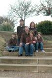 Familia de seises foto de archivo libre de regalías