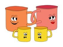 Familia de tazas Foto de archivo