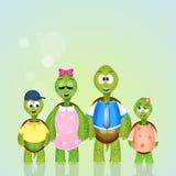Familia de tortugas Imágenes de archivo libres de regalías