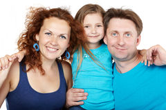 Familia de tres Foto de archivo libre de regalías