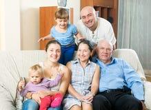 Familia de tres generaciones Foto de archivo libre de regalías