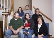 Familia de tres generaciones que se divierte Imágenes de archivo libres de regalías