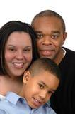 Familia del afroamericano Fotos de archivo