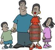 Familia del afroamericano Imagen de archivo libre de regalías