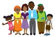 Familia del afroamericano Imágenes de archivo libres de regalías