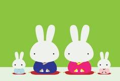 Familia del conejo Foto de archivo