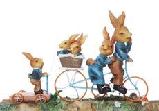 Familia del conejo de Pascua Imágenes de archivo libres de regalías