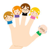 Familia del dedo ilustración del vector