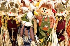 Familia del espantapájaros Foto de archivo libre de regalías