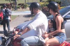Familia del motorista fotografía de archivo libre de regalías