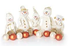 Familia del muñeco de nieve Imagen de archivo libre de regalías
