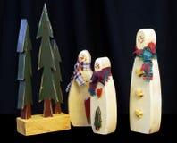 Familia del muñeco de nieve Fotos de archivo libres de regalías