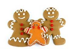Familia del pan de jengibre Imagen de archivo libre de regalías