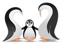 Familia del pingüino stock de ilustración