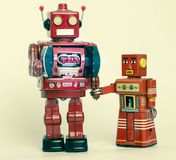 Familia del robot Imagen de archivo libre de regalías