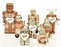 Familia del robot Fotos de archivo