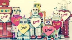 Familia del robot Imágenes de archivo libres de regalías